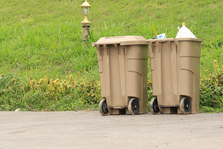 Two plastic dust bin. photo