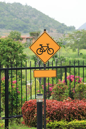 Bicycle traffic sign photo