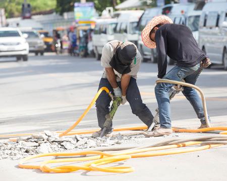 Demolish the road. photo