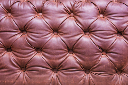 Leather upholstery of a magnificent sofa.