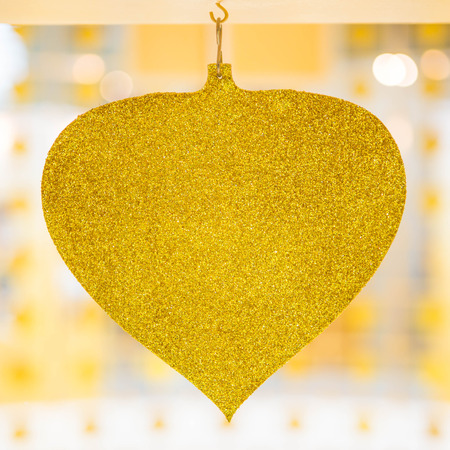 Bo leaves gold trim on isolated background. Stock Photo