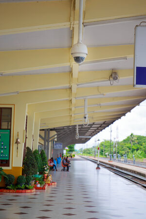 CCTV or surveillance operating in train station.