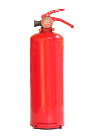 fire extinguishers: fire extinguishers isolated on white.