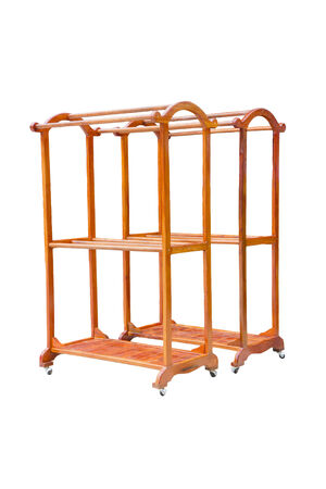 clothes rail: Mobile clothes rail  on white background.