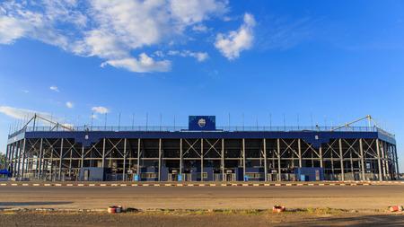 buriram: BURIRAM,THAILAND-NOV 12:View of I-mobile Stadium on Nov 12,2014 in Buriram, Thailand.