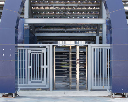security turnstile outdoor metal controll.