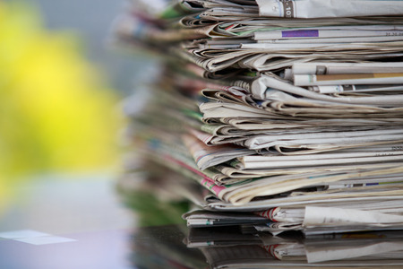stack of newspapers. Stock Photo