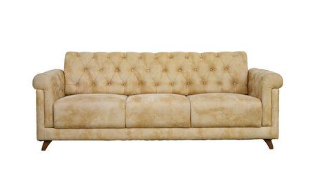 arm chair: Armchair-Fabric arm chair, classical stylish armchair isolated.