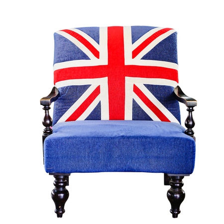 vintage chair: Vintage chair with the Union Jack printed.