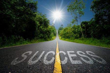 Business concept road: success.