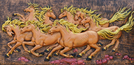 exquisite fairy: Horse sculptures. Use to decorate on the wall