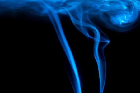 Smoke on black background Stock Photo