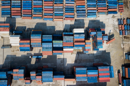 Top view of container. Stock Photo