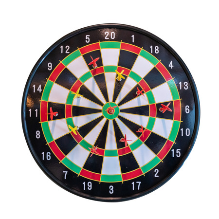 Dart board isolated on a white background.