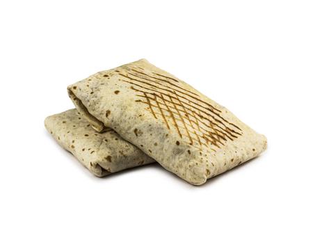 Double French Tacos on white Stockfoto