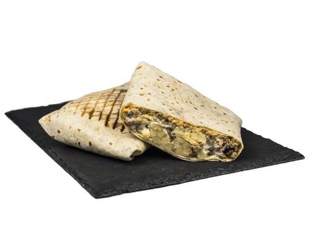 Cut single French Tacos on slate