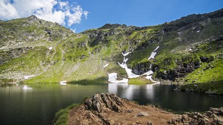 Landscape Lake in Carpathian Mountains, Roumania Stockfoto
