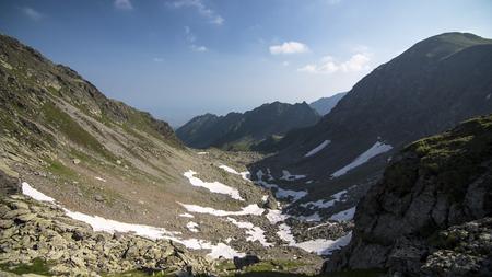 Landscape of Rocks in Carpathians Mountains, Roumania