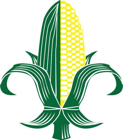Corn Fleur-de-lis Stock Vector - 9886572