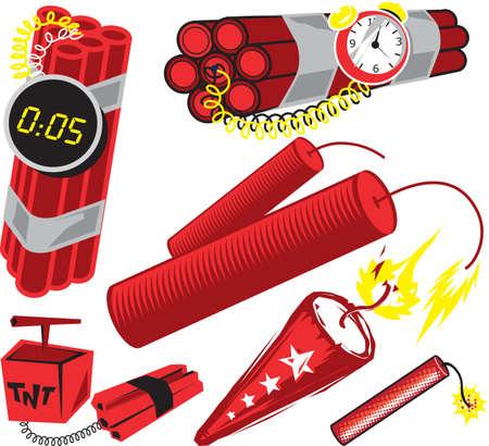 dinamita: Colecci�n dinamita Vectores