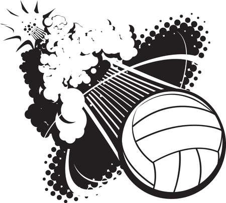 Sonic Boom Volleyball Illustration