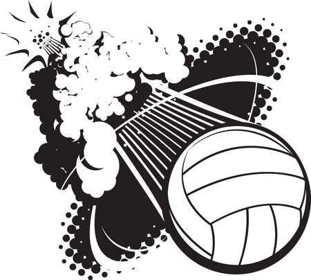 volleyball: Sonic Boom Volleyball Illustration
