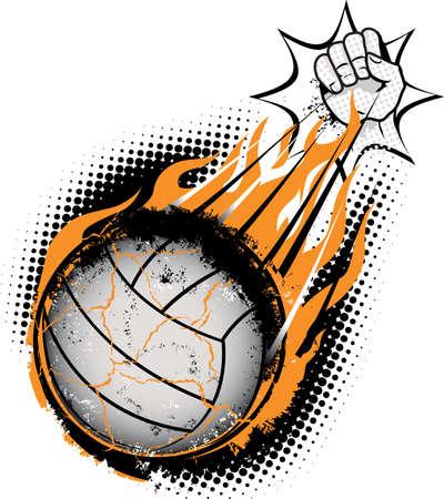 Volleyball Meteor Stock Vector - 9886582