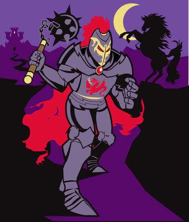 the villain: Black Knight & Horse