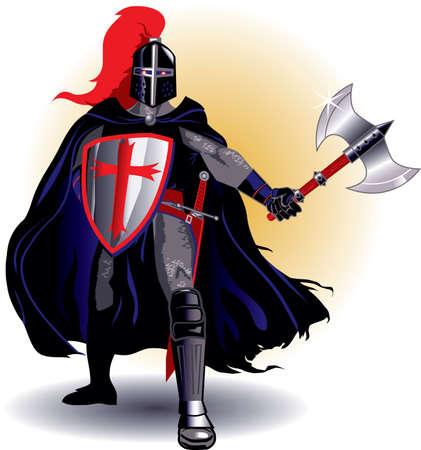 rycerze: Czarny Rycerz Ilustracja