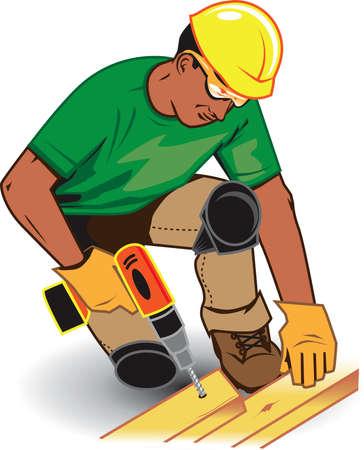 Construction Worker Stock Vector - 9886613