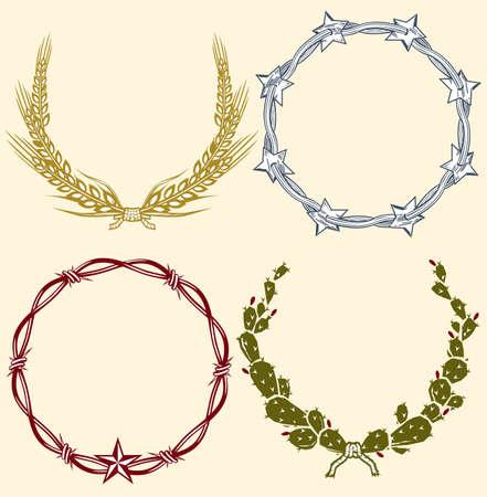 Country Laurels & Wreaths Vector