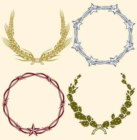 Country Laurels & Wreaths Stock Vector - 9886617