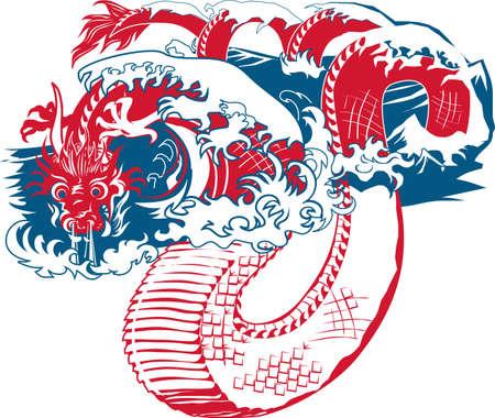 Eastern Sea Dragon Stock Vector - 9886593