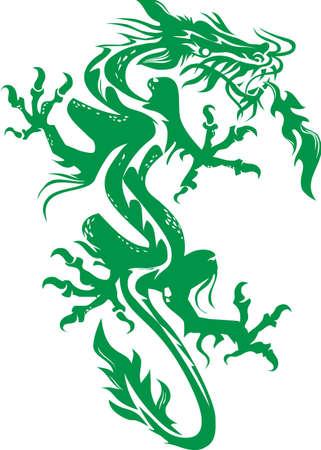 tatouage dragon: Dragon vert