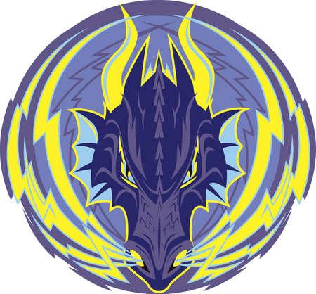 Lightning Dragon Emblem Stock Vector - 9886584