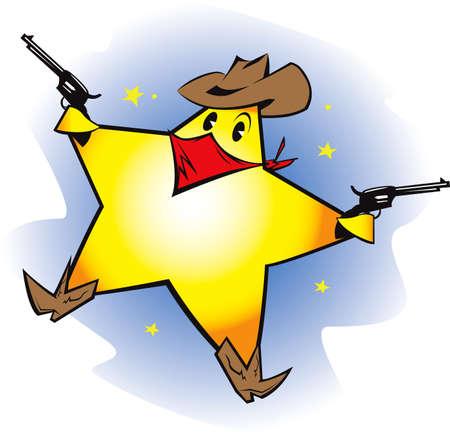 estrella caricatura: Estrella fugaz