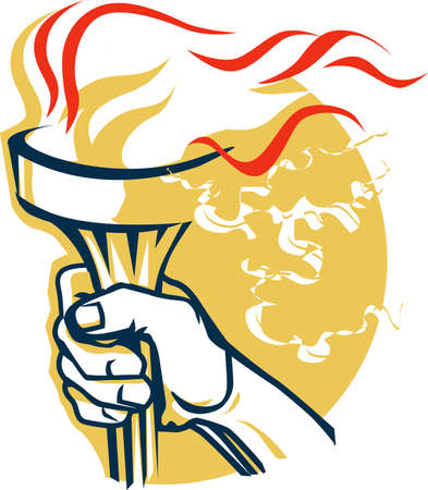 Victory Torch Stock Vector - 9886625