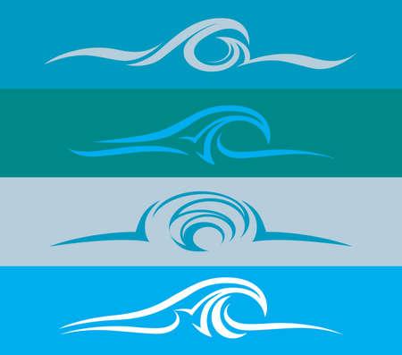tide: Evoluci�n del dise�o de onda Vectores