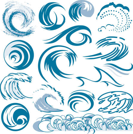 sea wave: Wave Collection Illustration