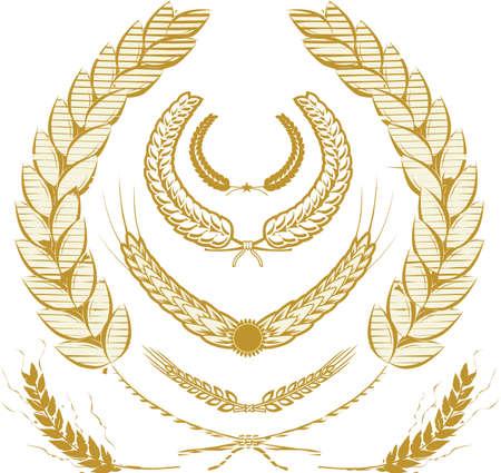小麦の栄光  イラスト・ベクター素材