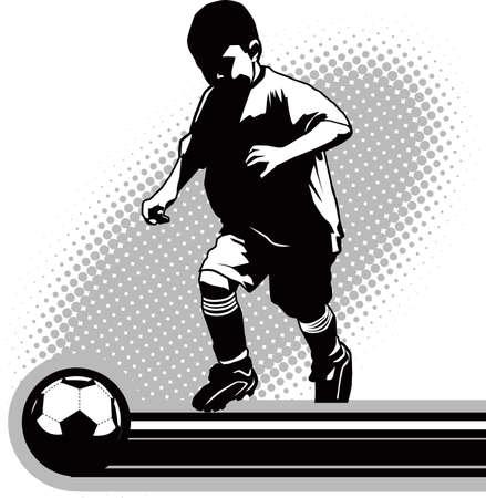 futbol: Giocatore di calcio giovanile Vettoriali