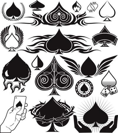 Spade Collection Stock Vector - 10101732