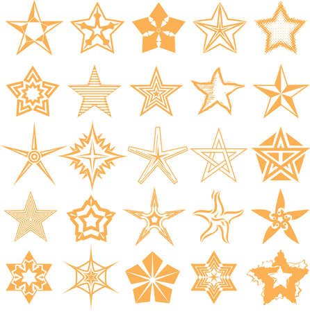 dingbats: Star Collection Illustration
