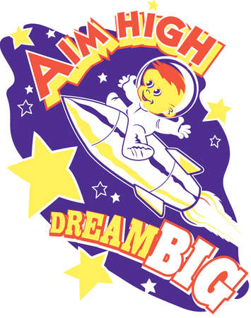 Aim High, Dream Big Vector