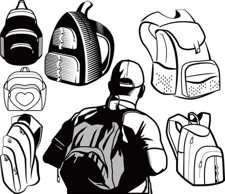 Backpacks Stock Vector - 10233418
