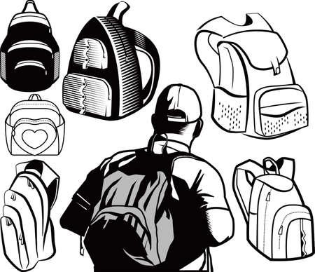 empacar: Mochilas Vectores