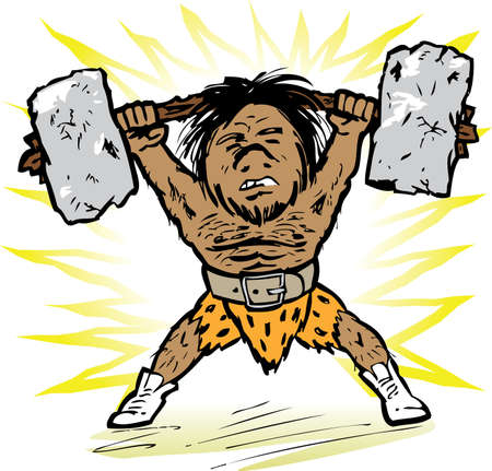 barbell: Prehistoric Weightlifter