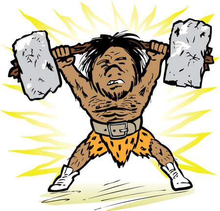 midget: Prehistoric Weightlifter