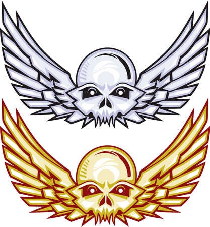 Winged Skulls Stock Vector - 10233411