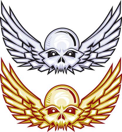 death metal: Winged Skulls
